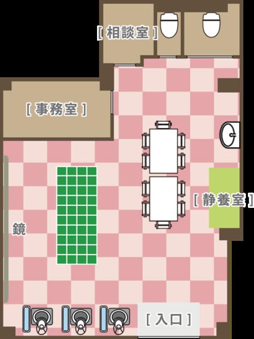 レコードブック祐天寺の施設マップ
